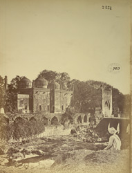 General view of the Pan Chakki (watermill), and Mosque of Baba Shah Muzaffar, Aurangabad